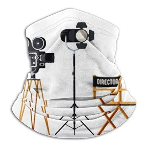 AEMAPE Calentador de Cuello: Tubo de Polaina para el Cuello, Calentador de Orejas, Diadema, Silla de Director, cámara de Cine, carretes de película, Bufanda de versatilidad