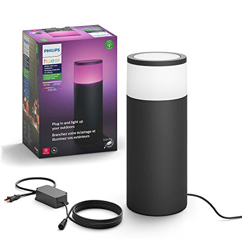 Philips Hue Calla White & Color Ambiance Outdoor Pathway Light Base Kit, 1 light, power supply & mounting kit,  Works with Alexa, (Requires Hue Hub)