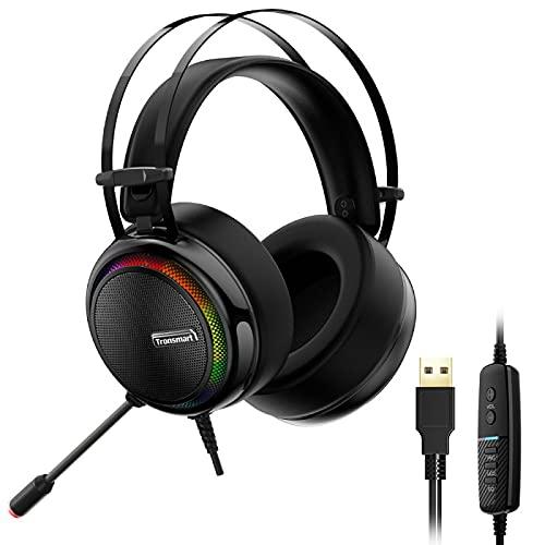 Shuang 7.1-Kanal-USB-Kabel kabelgebundenes Spiel-Sprachcomputer-Handy-Tablet-Headset 黑色