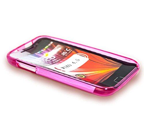 caseroxx TPU-Hülle für Wiko Cink Peax 2, Handy Hülle Tasche (TPU-Hülle in pink)
