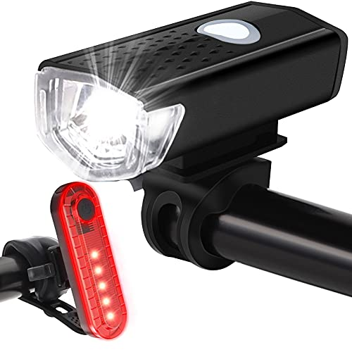 Bike Lights Front and Back, USB Rechargeable Bike Light Set Bike Headlight Tail Light for Night Riding Cycling - 800 Lumens 4 Modes…