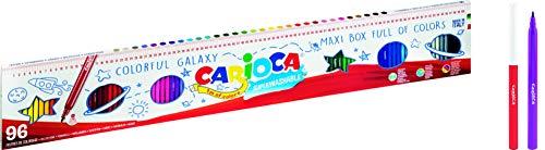 Carioca 41022 - Rotuladores Punta Fina Joy 1 Metro - 96 Uds