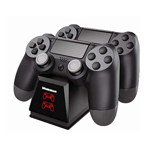 Cargador ps4,Cargador Controlador Mando PS4,Estación De Carga Usb Doble Para Mandos De Ps4 Pantalla Led,Cargador de controlador para PS4,Cargador rápido dual para Sony PS4/PS4...