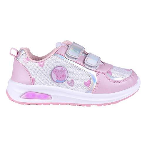 Cerdá Life'S Little Moments Zapatillas con Luces para Niñas de Peppa Pig con Licencia Oficial Nickelodeon, Deportivas, Multicolor, 23 EU