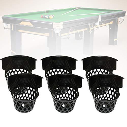 ROKF Billard-Taschen, Kunststoff, Netz, Taschen, Billardtisch, 6 Stück