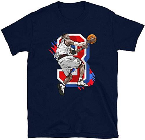 N/N Allen Iverson Philadelphia Sixers - Camiseta de manga corta, color azul...