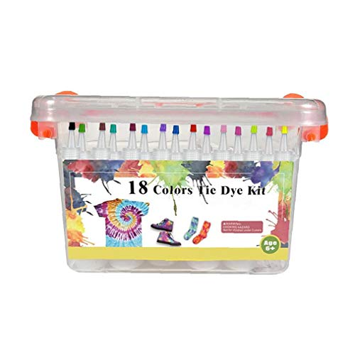 Teñido Anudado Del Kit Diy Tela Tela Conjunto Tinte Sistema De La Pintura De Los Niños Graffiti Tinte En Polvo Kit De 18 Colores Para La Decoración De Artes Fiesta Crafts Herramientas De Pintura