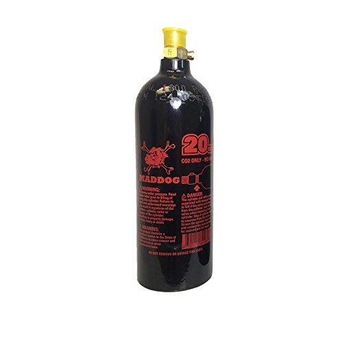 Maddog 20 Oz Refillable Aluminum CO2 Paintball Tank Bottle- 1 Pack