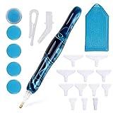 Hantech 17Pcs Diamond Painting Pen Tools Kit, Premium 5D Resin DIY Diamond Drill Art Pen with 14 Drill Pen Picking Tips and Wax, Handmade Diamond Painting Accessories for Diamond Paintings Hobby