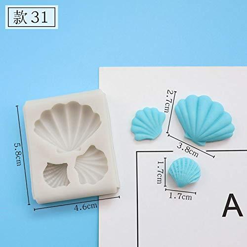 Bijzondere bakvormen cake pop vormen bakvormen marine chocolade vorm soort zeemeermin zeester schelp visstaart fondant siliconen vorm cake decoratie 31