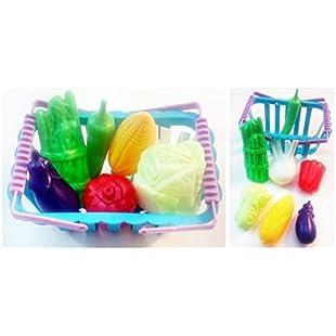 Customer reviews Vegetable Basket Preschool Toys Kids Children Pretend Play Plastic Shopping Grocery Food Play Kitchen:Greatestmixtapes