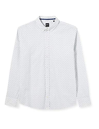 BOSS Mabsoot Camisa, Blanco (Natural 101), XX-Large para Hombre