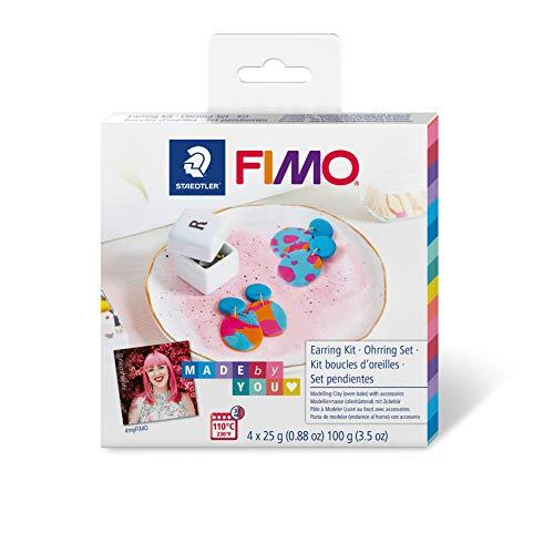 """Staedtler ST FIMO Soft DIY-Set """"Statement Ohrringe"""" mit Anleitung und Zubehör, ofenhärtende Modelliermasse für kreative Objekte Made by You, 8025 DIY2"""