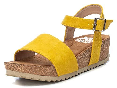 XTI Sandalia BAS034256 para Mujer Amarillo 40