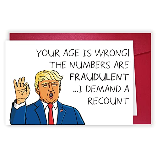 Hilarious Donald Trump Recount Card, Humor Birthday Card, Card for 30th 40th 50th Him Her