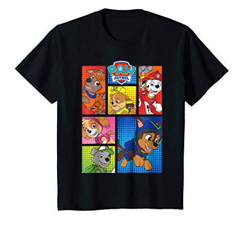 Kids Paw Patrol Pups in Comic Boxes T-Shirt