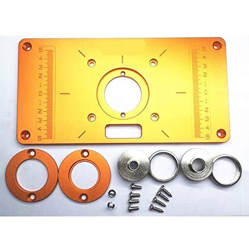 LT-Tool, 1set Aluminium Router Tabelle einfügen Platte W / 2 Router Einsatzringe Trimming-Maschine Flip-Platte for Holzbearbeitung Bänke Trimmer (Größe : 70x62mm)