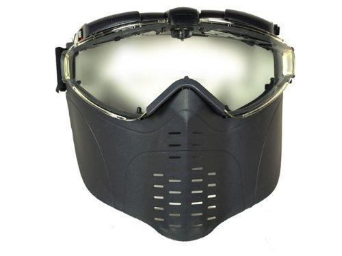BBTac - Fan Vented Pro Goggle Full Face Mask (Black)