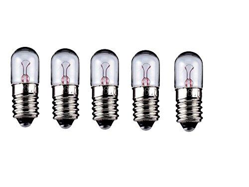 5er Set WireThinX Röhrenlampe 2 W, 6,3 V - Sockel E10
