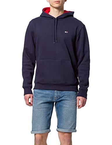 Tommy Jeans Herren TJM Essential Script Hoodie Skate-Kapuzenpullover, Marineblau (Twilight Navy), XL