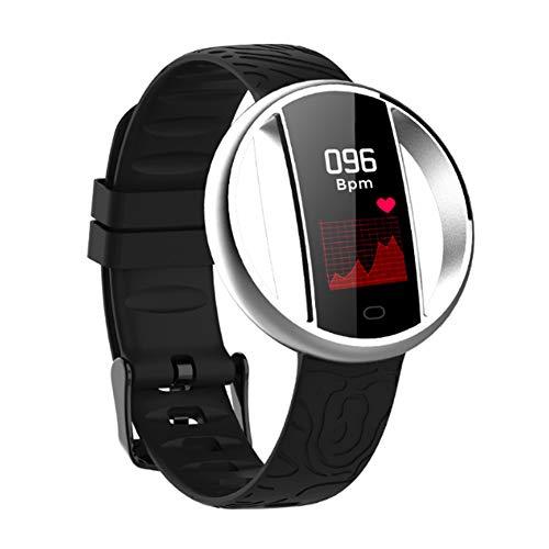 Extrbici - Reloj de Pulsera con Monitor de Ritmo cardíaco, Monitor de sueño, Pulsera Inteligente, Contador de Pasos, Impermeable, para Hombres y Mujeres, Color Plata