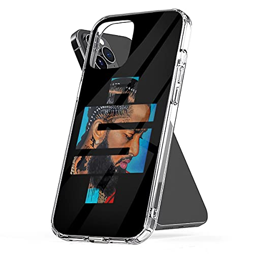 Phone Case Best Clear of Waterproof Design Pc Hussle Funny The TPU Nipsey Logo Compatible for iPhone 6 6s 7 8 X Xs Xr 11 12 Se 2020 Pro Max Plus