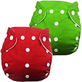 Babymoon (Set of 2) Cloth Diaper Cover Designer Premium Reusable, Adjustable Size, Waterproof, Washable, Pocket Cloth Diaper Nappie (Without Inserts)