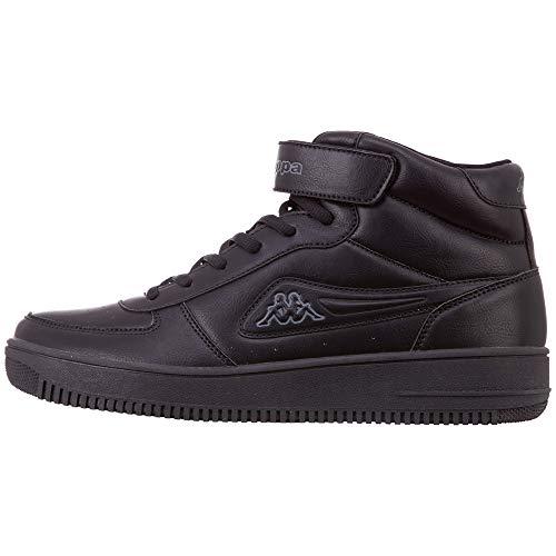 Kappa Bash Mid, Sneaker a Collo Alto Uomo, Nero (Black/Grey 1116), 42 EU