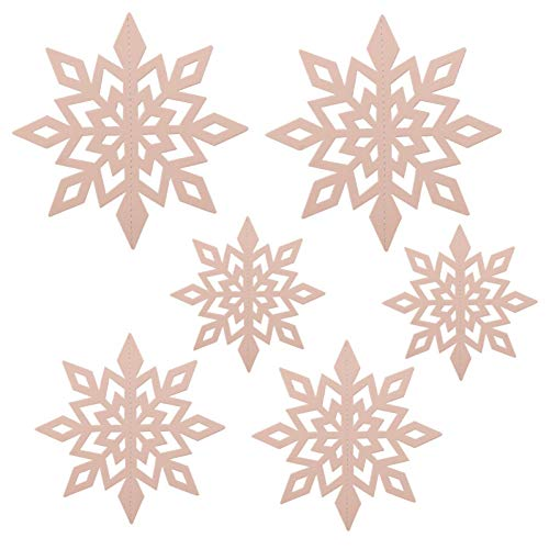 XNBCD Kerstmis 6 stuks holle sneeuwvlok papieren slinger ornament aan de muur bevestigd nieuw jaar voor familie