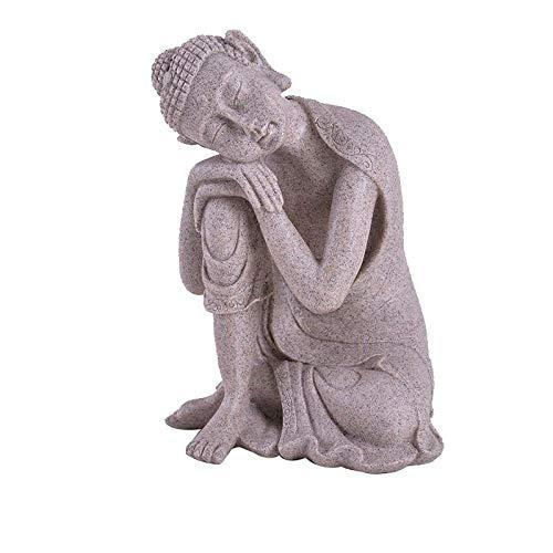 Escultura Figuritas Decorativas Estatuas Estatuas Figuritas Decoración Estatua De Buda De Piedra Arenisca Blanca Yoga Mandala Imagen De Buda Esculturas Accesorios De Decoración Del Hogar Estatuil