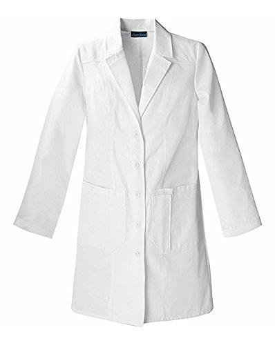 """CHEROKEE Women's Scrubs 36"""" Lab Coat, White, Small"""
