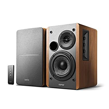 Edifier R1280T Powered Bookshelf Speakers - 2.0 Active Near Field Monitors - Studio Monitor Speaker - Wooden Enclosure - 42 Watts RMS