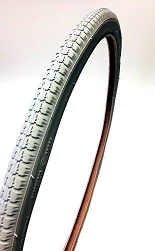 Silla Neumáticos 24x 13/8, ETRTO 37–540, color gris, silla de aire de neumáticos para estándar Sillas de ruedas, bloque perfil