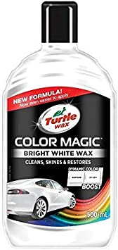 Turtle Wax Color Magic 52712 Car Polish Cleans Shines Restores Scratches - Bright White Wax 500ml: image