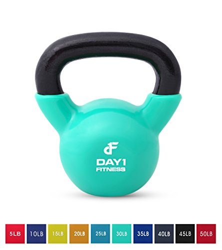 Day 1 Fitness Kettlebell Weights Vinyl Coated