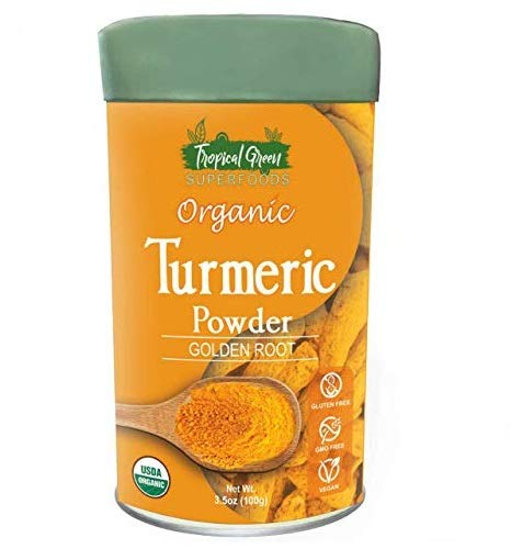 Turmeric Root Powder (Curcumin) Organic, Gluten-Free & Non-GMO, 3.5 Oz...