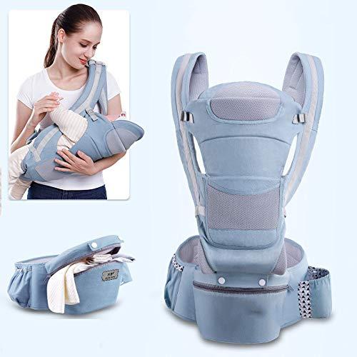 LYXCM Baby Hüftsitztrage, 3In1 Mit Kleinkind Bis 48 Monate, Verstellbar Ergonomische Babytrage Aus Weicher Baumwolle, Atmungsaktiv,B