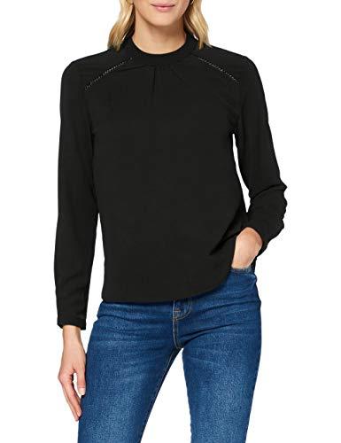 ONLY Damen Onlnew Mallory L/S Blouse Solid Wvn Noos Bluse, Schwarz (Black), 36 EU