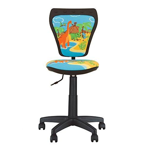 Ministyle Kinder-Bürostuhl, Schreibtischstuhl 360° drehbar. Einstellbare Höhe: Verstellbare Rückenlehne, verstellbare Sitzfläche.