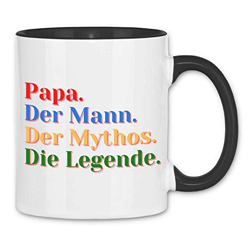 Print Dynastie Tazza Gift Idea Dad Father Famiglia Padre figlia figlio amore birra, Colore:Mythos, Legende White Black
