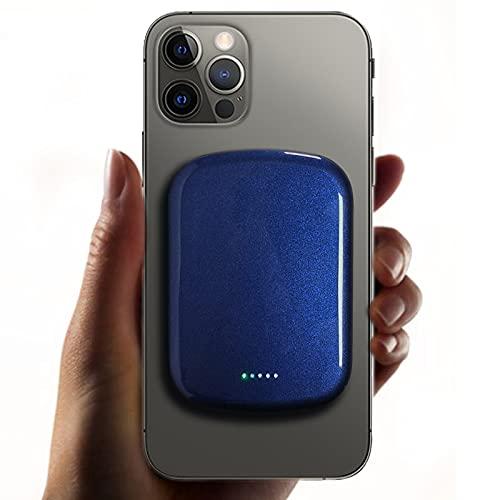 Reletech MG Mag-safe Power Bank, 15 W 10000 mAh caricatore magnetico wireless Powerbank, batteria esterna di ricarica USB-C per iPhone 12 Mini 12 12Pro 12Pro Max (blu)