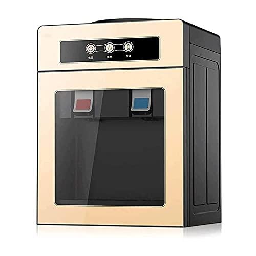 ELXSZJ XTZJ Dispensador de refrigerador de Agua de encimera de Carga Caliente/Caliente en frío con Cerradura de Seguridad para niños (Color : Gold)