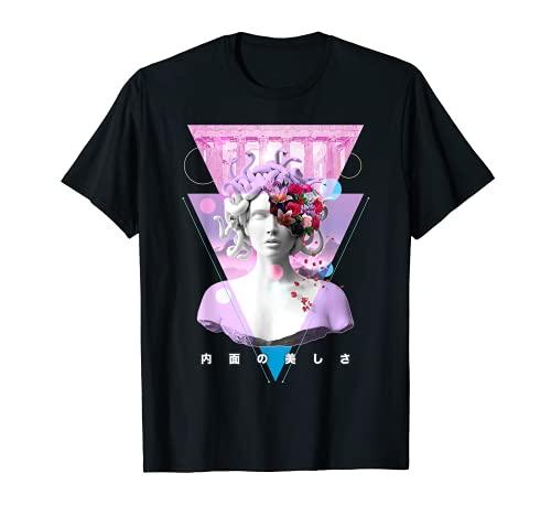 Vaporwave Medusa Statue Aesthetic Art Retro Japanese Otaku T-Shirt