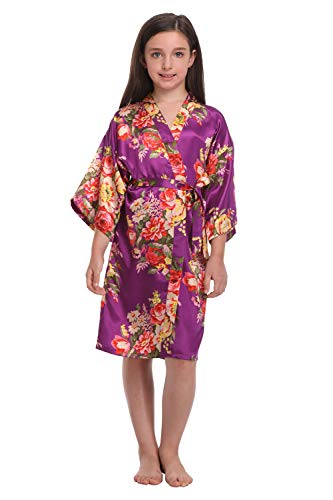 Little Girls Floral Robes for Spa Wedding Party Nightgown Nightwear...