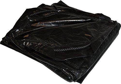 9' x 9' Dry Top Black Drawstring 8-mil Poly Tarp Item #500998 by DRY TOP