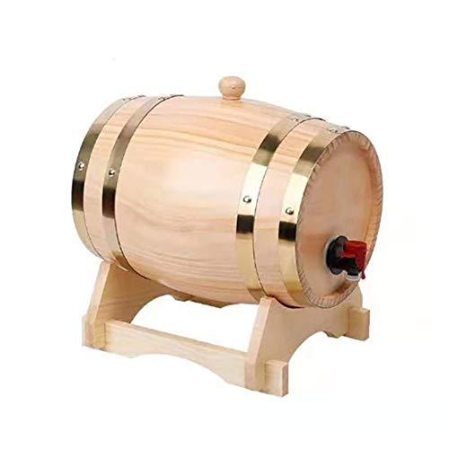 Indispensable 1,5 / Herramientas 3L Barril de madera de roble de la vendimia la elaboración de cerveza grifo dispensador for Ron Pot whisky vino -bar barril Home Brew barril de cerveza Predomi