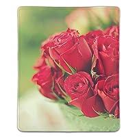 マウスパッド 赤いバラの花束