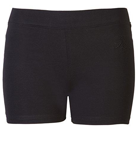 Damen Shorts Damen Cycle Shorts von Brody & Co. Ultimate Spandex Gym Pants Workout Dance Yoga Loungewear, Schwarz, S/M