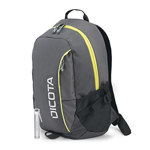 Dicota Backpack Active 35,6–39,6 cm laptoptas - zwart/geel Rugzak met reserveaccu, premium 14-15.6 grijs