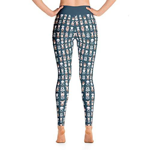 AFFGEQA Damenmode gedruckt Hüftlifting Yoga Hosen Übung Hosen Leggings Yoga Hosen